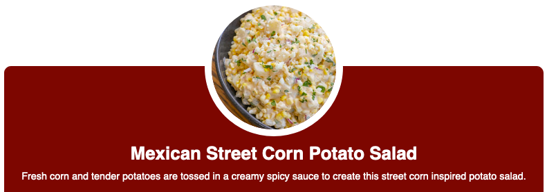 Mexican Street Corn Potato Salad Doug Gazlay's ILoveVittles.com