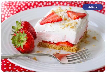 Recipe for Strawberry Cheesecake Dream Bars- Doug Gazlay's ILoveVittles.com