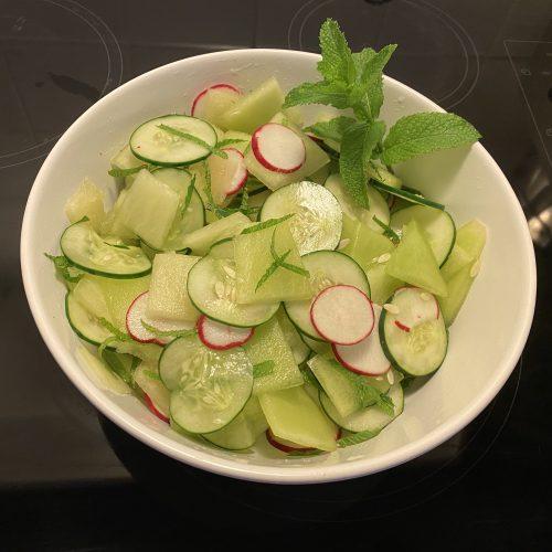 Melon/Cucumber Salad Doug Gazlay's iLoveVittles.com recipe