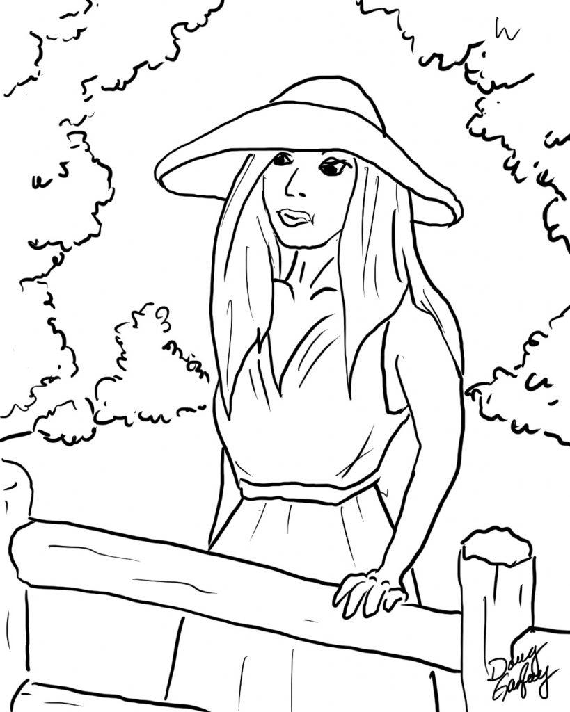 Woman At Fence - Doug Gazlay ILoveVittles.com