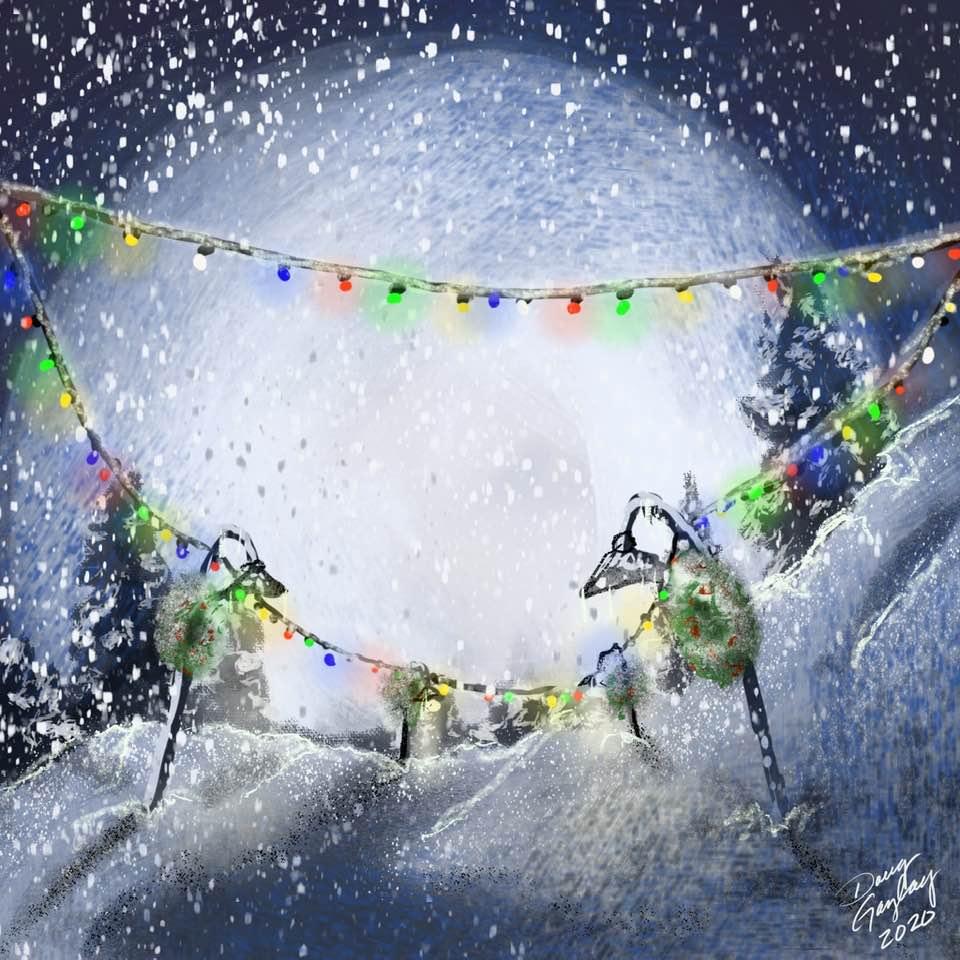 Christmas Light Lit Path (2020)- Doug Gazlay