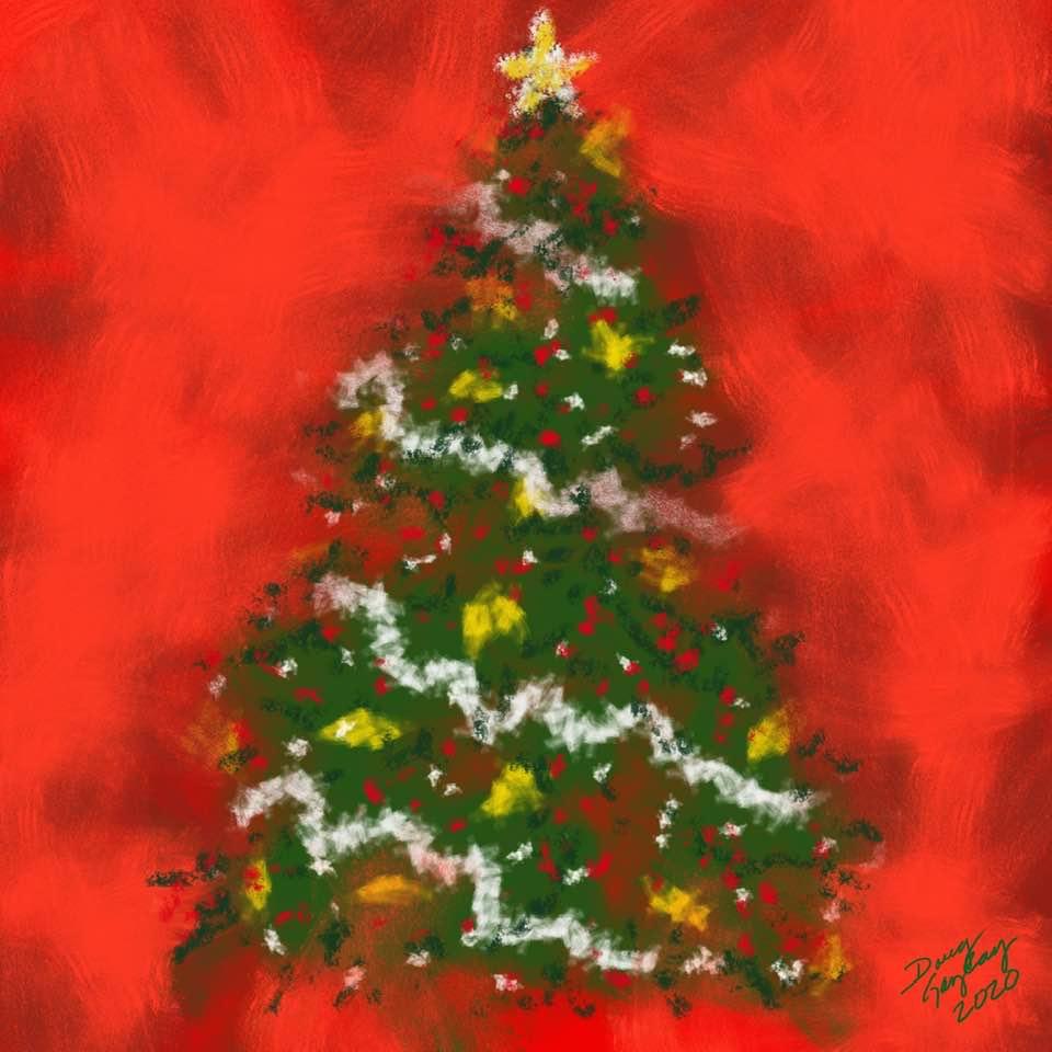 O CHRISTMAS TREE IN PASTELS (2020) - Doug Gazlay