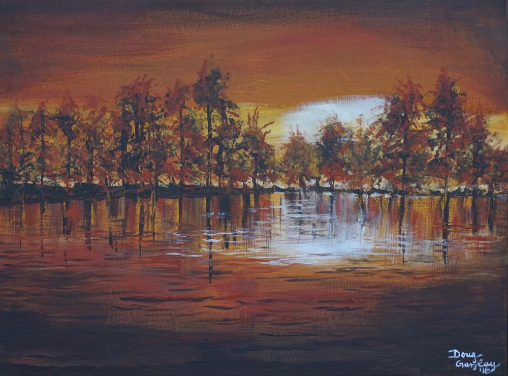 Sunset at Lakeside in the Fall 2016- Doug Gazlay