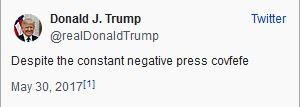 covfefe- President Donald Trump Tweet- Doug Gazlay's ILoveVit6tles.com
